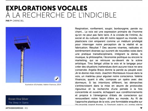 "Article ""Explorations Vocales, à la recherche de l'indicible"" capture d'écran #1"
