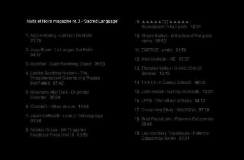 Nuits et Noirs 3 - 'Sacred Language'